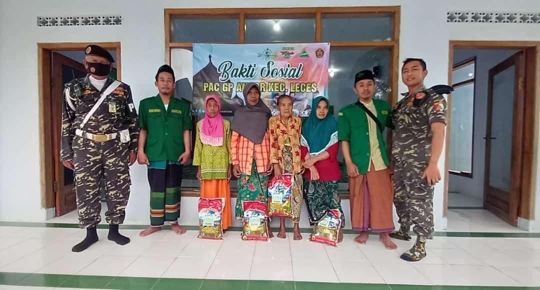 Baksos, Menjadi Rutinan PAC GP Ansor Leces di Bulan Ramadhan