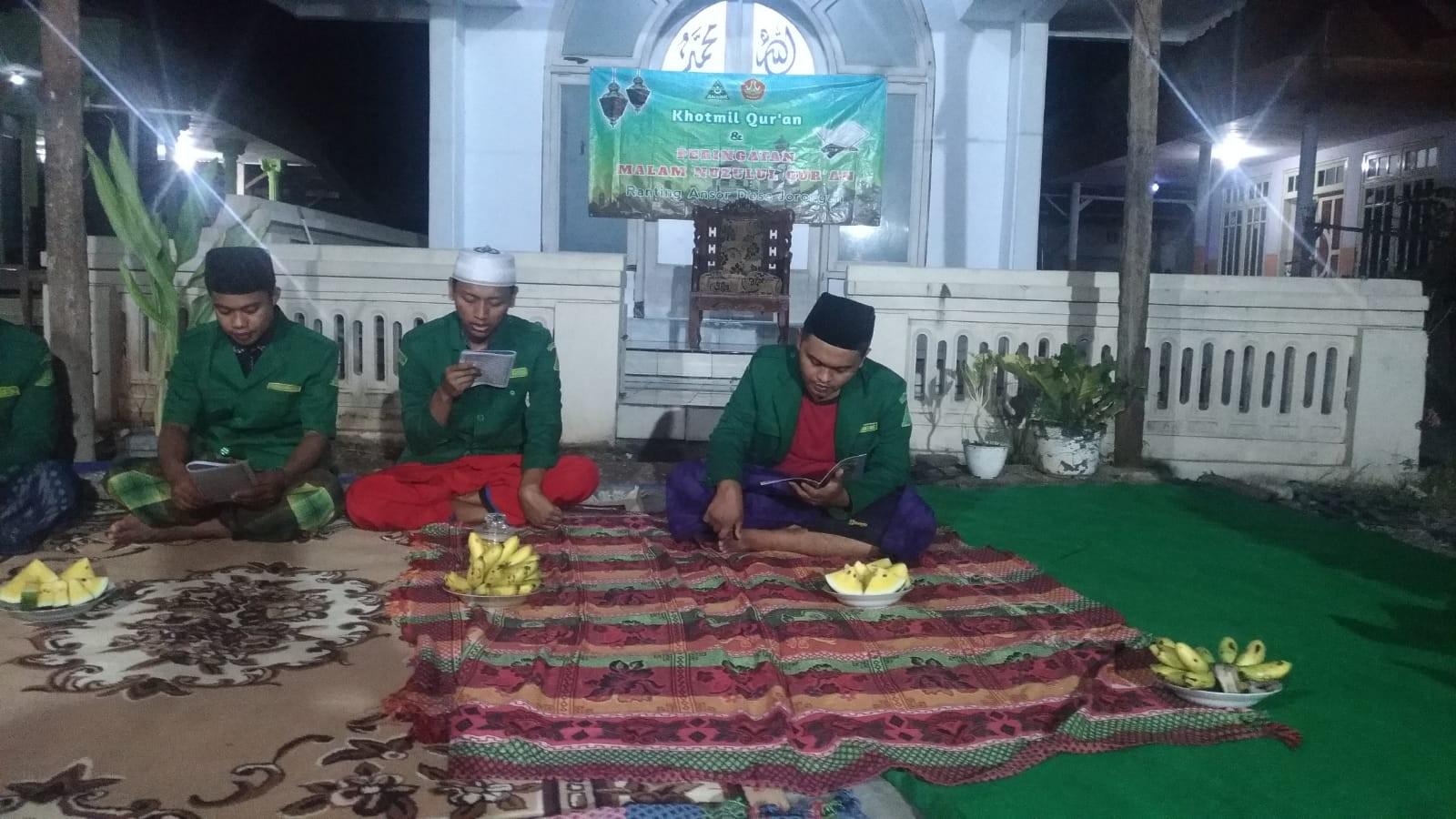 Ansor Ranting Jorongan Peringati Nuzulul Quran