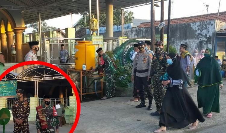 Banser NU, TNI-Polri dan Pecalang Masyarakat Adat Hindu Kompak Jaga Salat Ied di Probolinggo