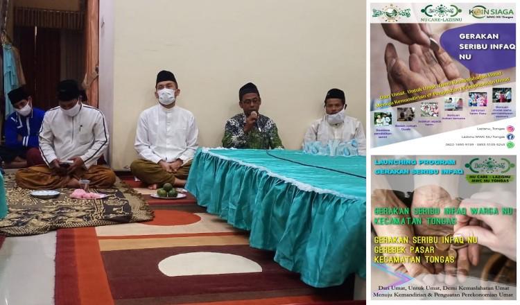 Lazisnu MWC NU Tongas Launching Gerakan Seribu Infaq NU