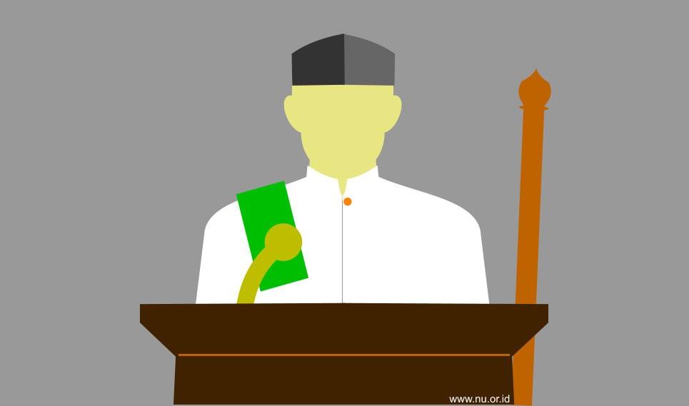 Hukum khotib tidak duduk diantara dua khutbah